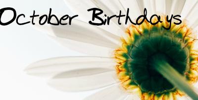 Birthdays – October 2016