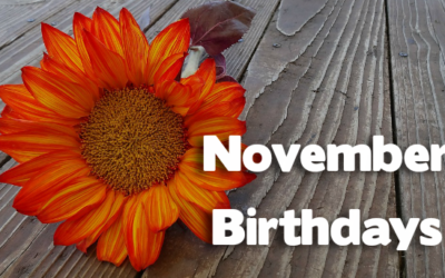 Birthdays – November 2016