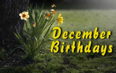 Birthdays – December 2016