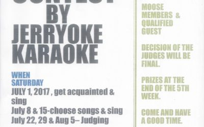 Karaoke Contest This July 2017