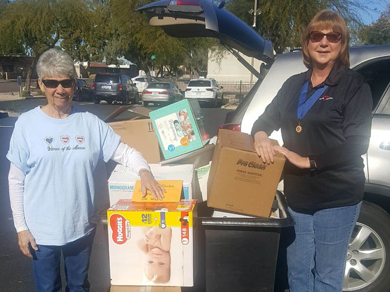 WOTM Deliver Christmas Angel Donations